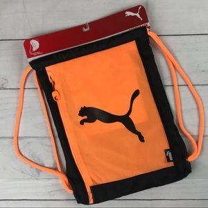 Puma. Drawstring Expandable Gym Backpack Bag
